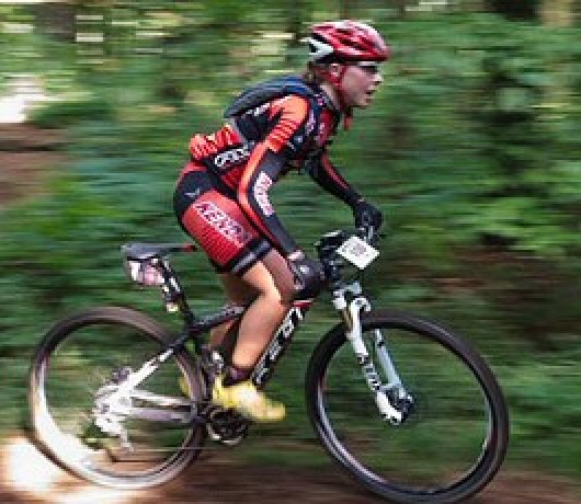 Amanda Carey riding the Mohican - photo Butch Phillips