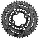Mountain Bike Triple Chainrings - Back View