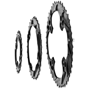 Mountain Bike Triple Chainrings - Side View
