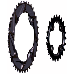 Mountain Bike 2x10 38/24 Chainrings - Side