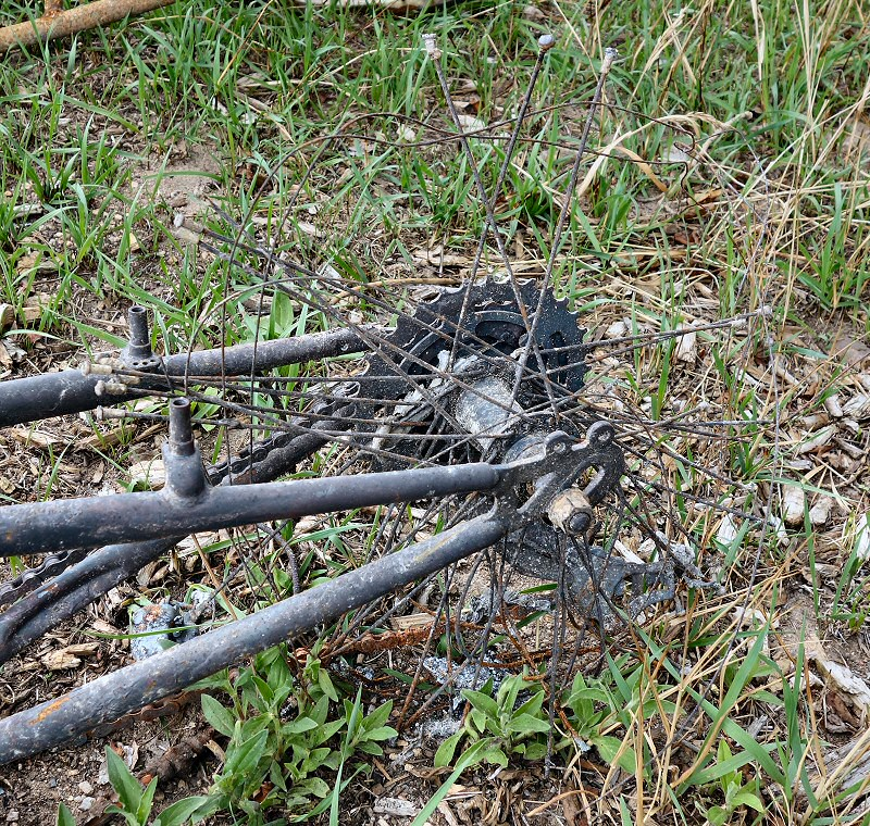 Bike remains from the Black Forest fire