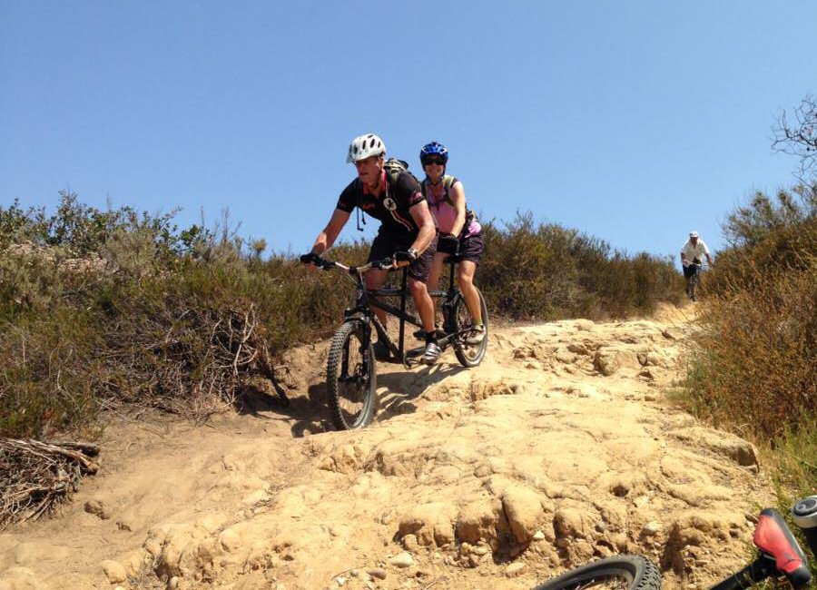 Mountain Tandem riding WickWerks