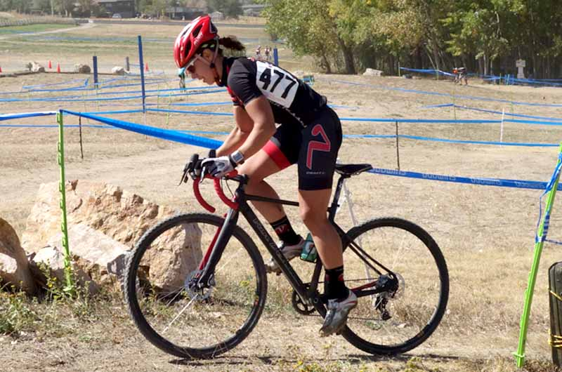Becca Blatt racing on the Van Dessel team