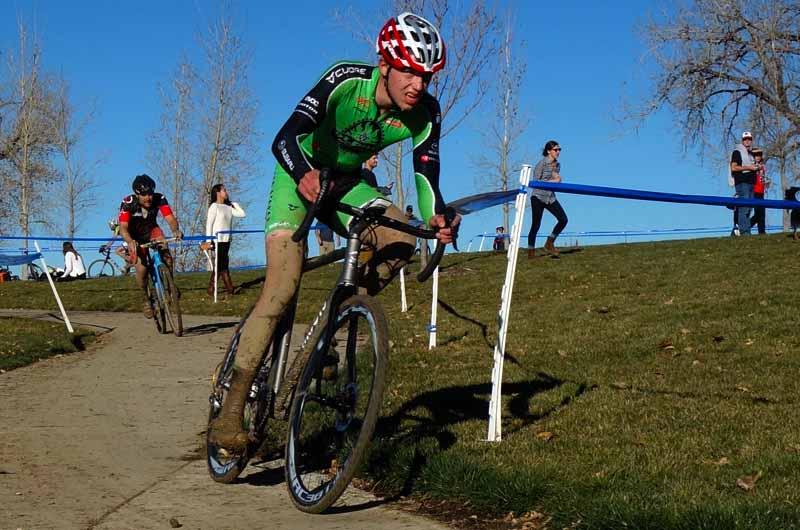 Brannan Fix muddy Cyclocross riders