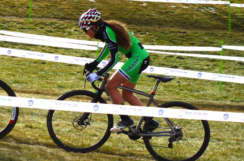 Katie Clouse  of Team Alpha Bicycle Company